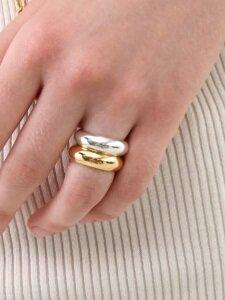 Bold Twin Silver Rings