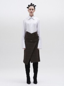 Check pattern lap skirt