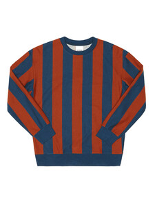 VERTICAL STRIPE SWEATSHIRTS (BLUE/BROWN)