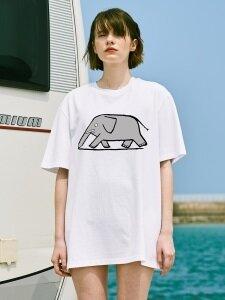 [SS18 NOUNOU] Elephant T-Shirts(White)