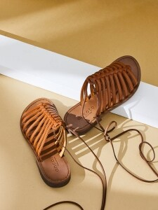 LACE-UP 2in1 SANDAL_NATURAL BONE