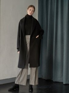 Tailored volume coat [middle length]