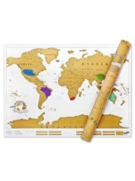 럭키스 스크래치 맵 세계지도 Scratch Map