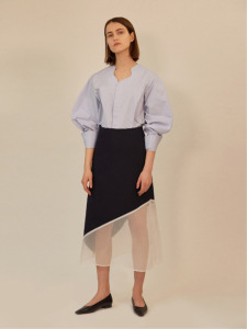18SS SHEER PANEL A-LINE SKIRT