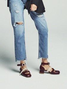 Burgundy shelley Strap Shoes 쉘리 스트랩 슈즈 버건디