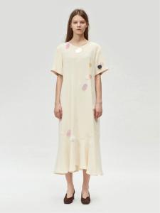 17FW SEQUIN EMBELLISHED LONG DRESS (IVORY)