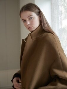 Tailored volume coat [long length]