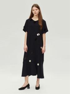 17FW SEQUIN EMBELLISHED LONG DRESS (BLACK)