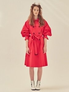 OVERSIZED COTTON TRENCH_RED