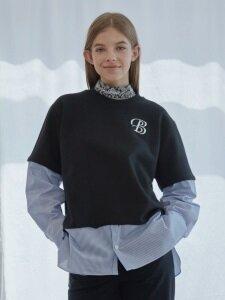 Stripe Combi Sweat Shirts