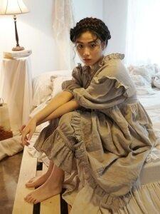 그레타 린넨 드레스 + 팬츠 SET : Greta linen dress + pants SET