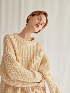 Chunk-knit pullover