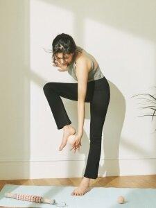 Flare Leg Trouser-Black
