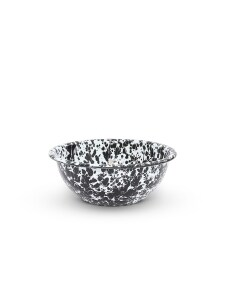 cereal bowl black marble