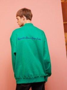 Mock Neck Sweatshirt (Green)