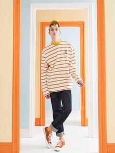 Stripe Long Sleeve T-Shirt (Ivory)