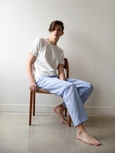 M Pajama Pants  _ Blue stripe