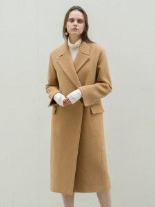[CASHMERE 10%] 17FW PEAKED COLLAR LONG COAT