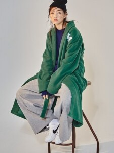GREEN FLEECE ROBE