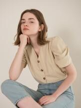 Puff Sleeve Blouse (beige)