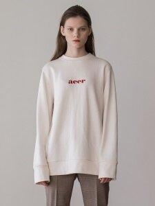 Logo Sweat Cotton Tshirts (Ivory)