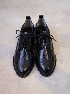 30mm Oxford Wingtip Shoes (Black)
