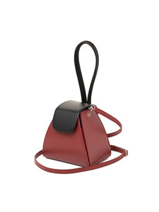 COLOR BLOCK HANDLE BAG NEW RED