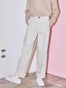 DO-NOT-REVERSE COTTON PANTS BEIGE