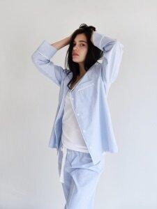 Piped PJM Shirt _ Blue stripe