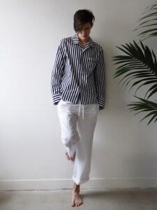 M Pajama Pants  _ White