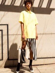 SHAMAN POPLIN DRESS atb141w (Lemon)