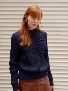 Oblique-Lined Knit