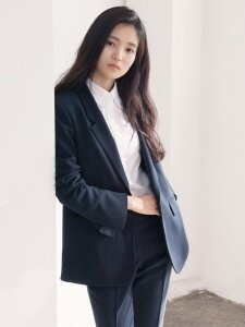 [Drama Collection] Slit Cuffs Tailored Blazer