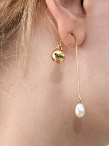 Ugly Pearl Simple Earrings