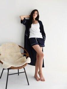 PJM Long Robe _ Navy