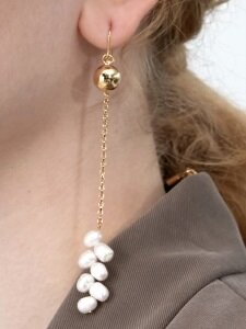 Wheat Pearl Single Earring