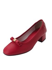 Mini Three Layer Ribbon Pumps_Red