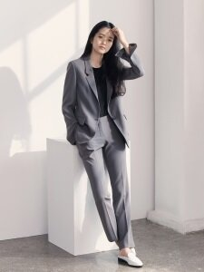 [Drama Collection] Slim Straight Trousers