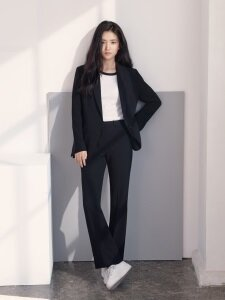 [Drama Collection] Slim Bootcut Trousers