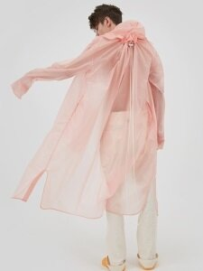 PULLING RAIN LONG COAT light PINK