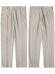 M#1562 linen set-up slacks (ivory)