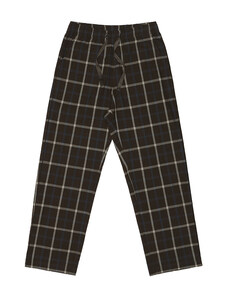 CHECK PAJAMA PANTS (BROWN)
