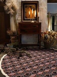 세잔느 라운드 프리지 매트 : Cezanne round fringe mat
