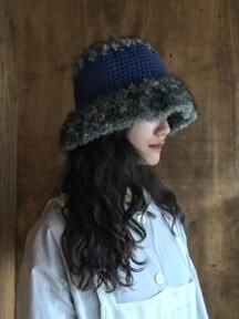 furry hat blue