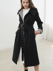 18' SPRING_Navy Cotton Twill Trench Coat