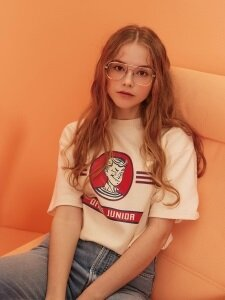 Office Junior 1/2 T-shirt (Cream)