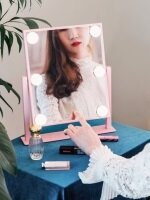 조명 메이크업 거울 마이스위트데이 핑크