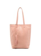everyday leather tote_pink