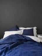 soft linen navy(814) + light gray(807) bedding set