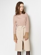Belted Pencil Skirt_Ivory